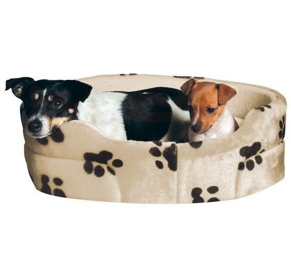 Pelech pro psy CHARLY ovál Béžový s černými tlapkami 43x38cm