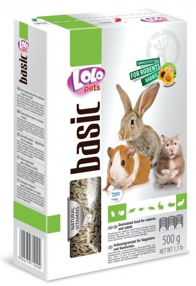 LOLO BASIC granulované krmivo pro hlodavce 500 g krabička