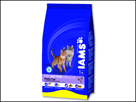 Iams Multicat Chicken / Salmon 15kg