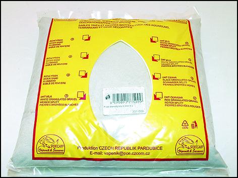 Písek křemičitý bílý 0,3 mm 3,3kg