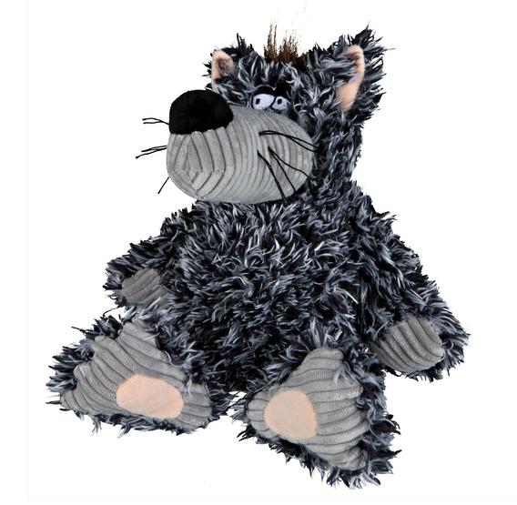 Plyšový vlk šedý, robustní 22 cm