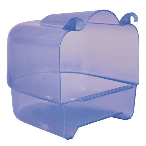 Plastová koupelna hranatá transparentní 15x16x17 cm