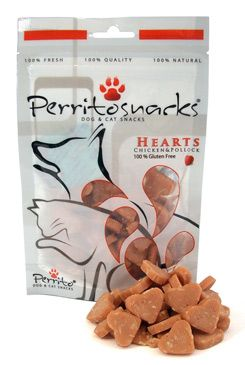 Perrito snacks Heart ChickenPollock pro psy a kočky 50g