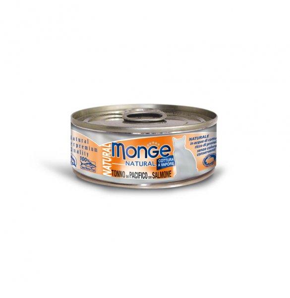 Monge Natural tuňák s lososem pro kočky 80g