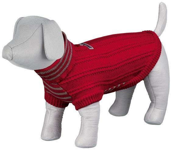 Pletený svetr s rolákem PIAVE červený XS 18 cm