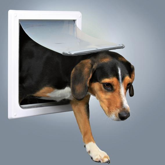 Průchozí dvířka pro psy S-M dvoucestné 30 x 36 cm