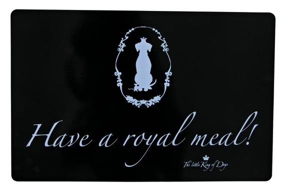 Prostírání - gumová podložka pod misky černá Royal 44x28 cm