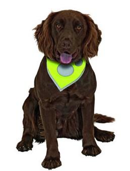 Šátek na krk reflex Safety Dog Žlutý 48-60cm