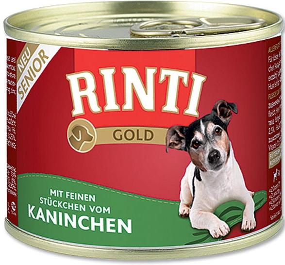 Rinti Dog Gold konzerva senior králík 185g