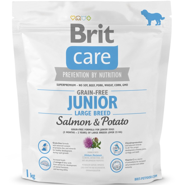 Brit Care Dog Grain-free Junior LB Salmon & Potato 2 balení 12kg