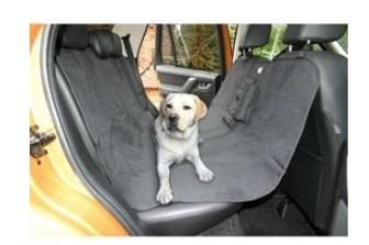 Lůžko do auta pro psa GreenDog dvousedačkové černé ECONOMY