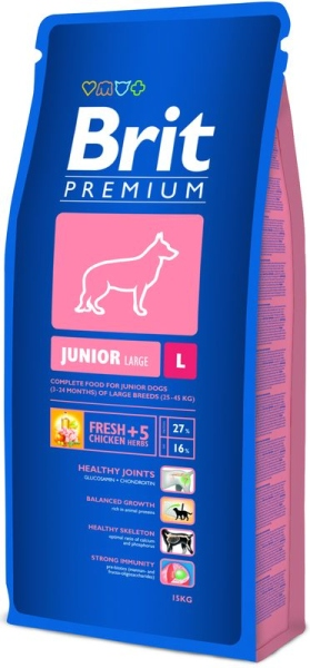 Brit Premium Dog Junior L 15kg krmivo pro psy