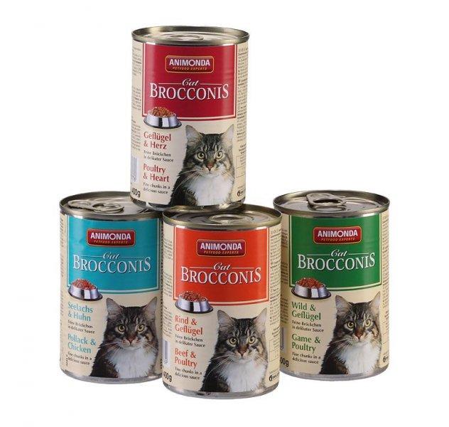 Animonda konzerva BROCCONIS - kuře, srdce pro kočky 400g