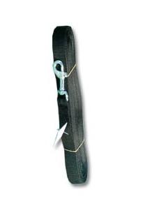 Vodítko nylon stopovací Ploché černé 10m / 20mm