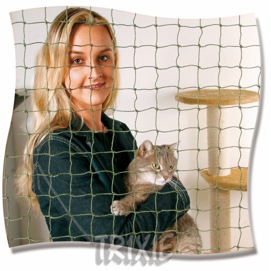 Ochranná síť pro kočky 2x1,5m černá