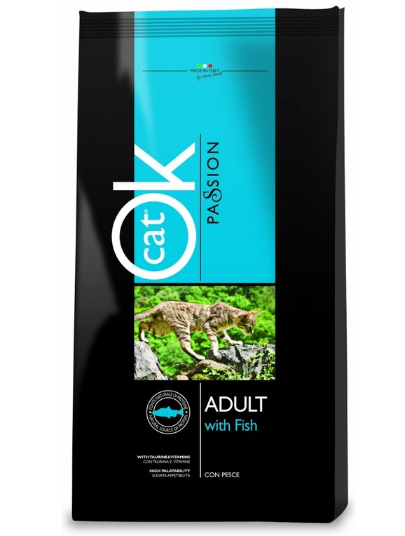 OK Cat Passion Adult Fish 1,5kg
