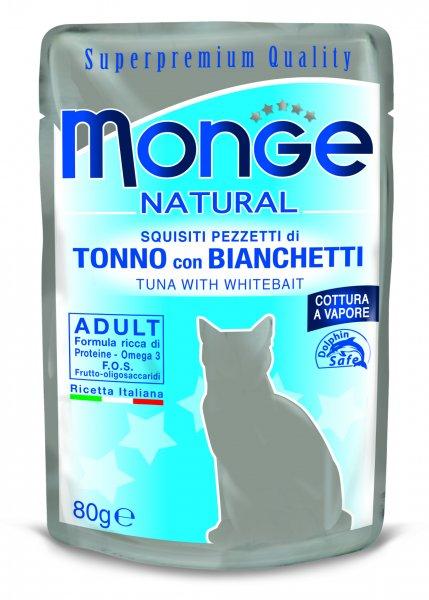 Monge Natural kapsička tuňák v želé se sleděm pro kočky 80g