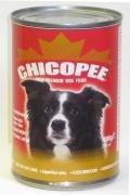 Chicopee konzerva hovězí kostky pro psy 1230g exp. 09/2016