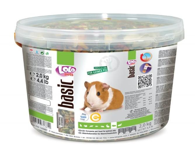 LOLO BASIC kompletní krmivo pro morčata 3 L, 2 kg kyblík