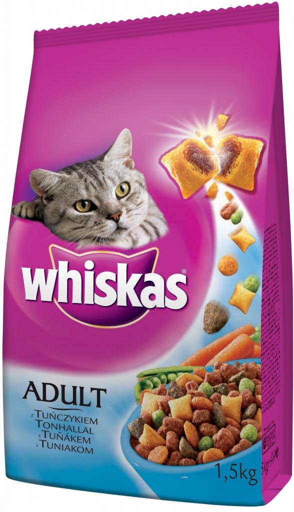 Whiskas Dry s tuňákem 1,5kg