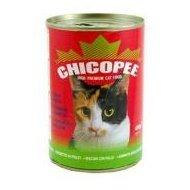 Chicopee konzerva s hovězím masem pro kočky 400g