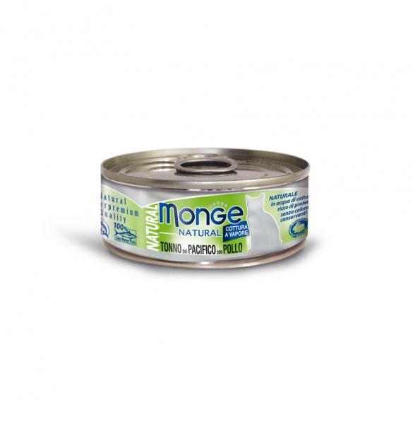 Monge Natural tuňák s kuřecím masem pro kočky 80g