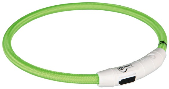 Svítící kroužek USB na krk (červená, zelená) XS-S 30 cm