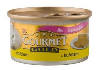 Gourmet Gold konzerva kočka jemná paštika kuře,játra 85g