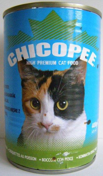 Chicopee konzerva s rybím masem pro kočky 400g