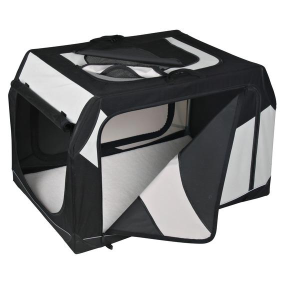 Transportní nylonový box Vario černo-šedý M - L 91x58x61 cm černo-šedý
