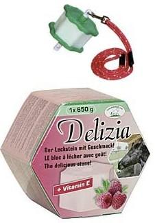 Liz solný pro koně DELIZIA náplň malina