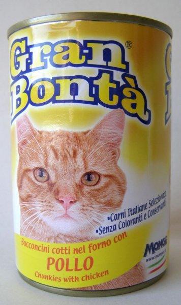 Gran Bonta konzerva s kuřecím masem pro kočky 400g
