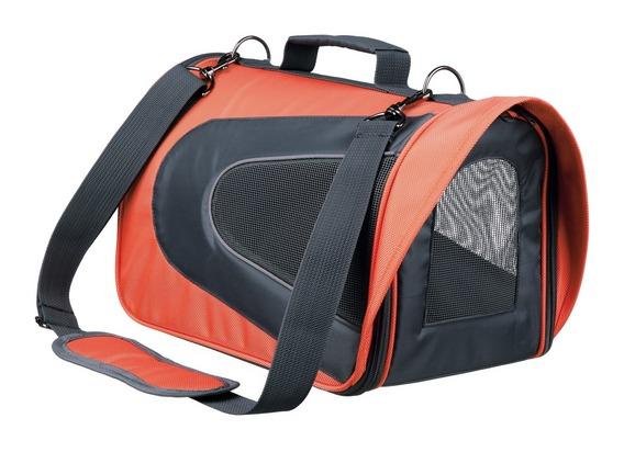 ALINA bag, nylonová přepravní taška se síťkou šedá / bordó 27x27x54cm 6kg