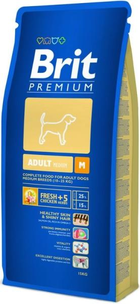 Brit Premium Dog Adult M 15kg krmivo pro psy