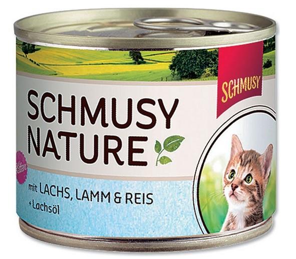 Schmusy Cat Nature Menu konz. Junior losos + jehně 190g