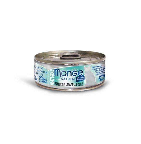 Monge Natural mořské plody s kuřecím masem pro kočky 80g