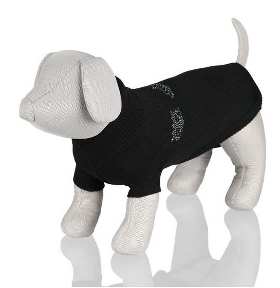 Černý svetr King of Dogs TRIXIE XS 25 cm