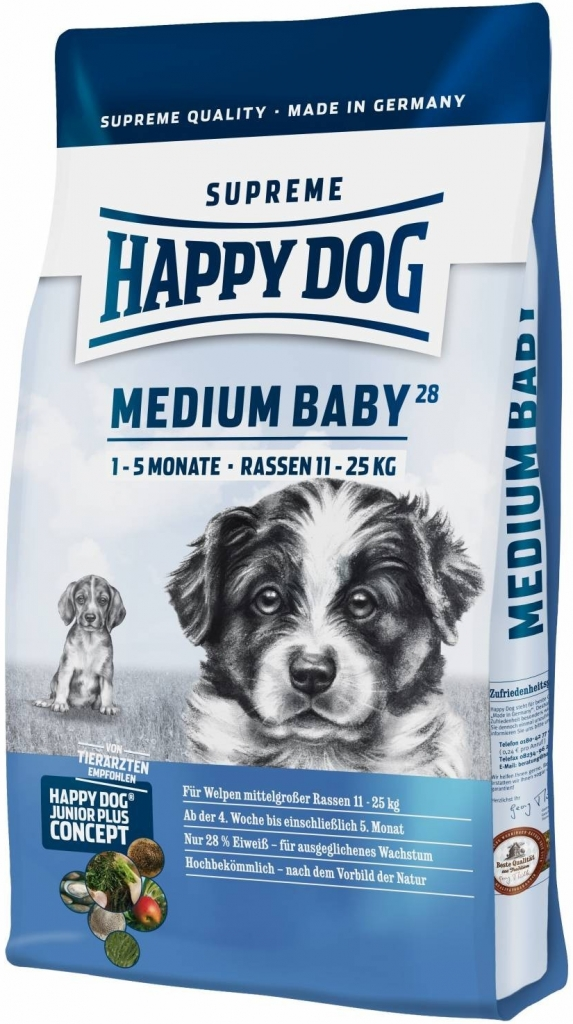 Happy Dog Supreme Medium Baby 28 (4T- 5M) 10kg