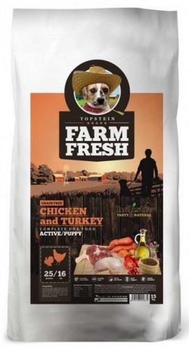 Topstein Farm Fresh Poultry Active / Puppy 15kg
