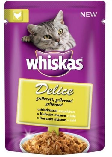Whiskas kapsa Delice grilované s kuřecím 85g