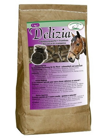 Pochoutka pro koně DELIZIA lékořice 1kg
