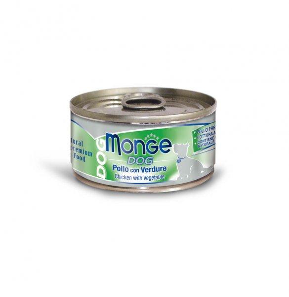 Monge Dog Natural kuřecí maso se zeleninou pro psy 95g