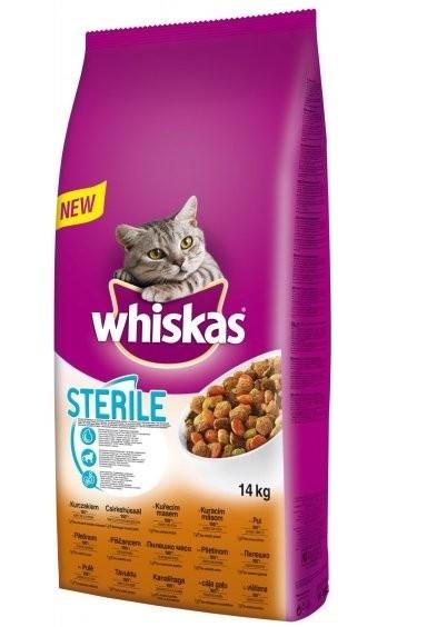 Whiskas Dry kuřecí STERILE 14kg