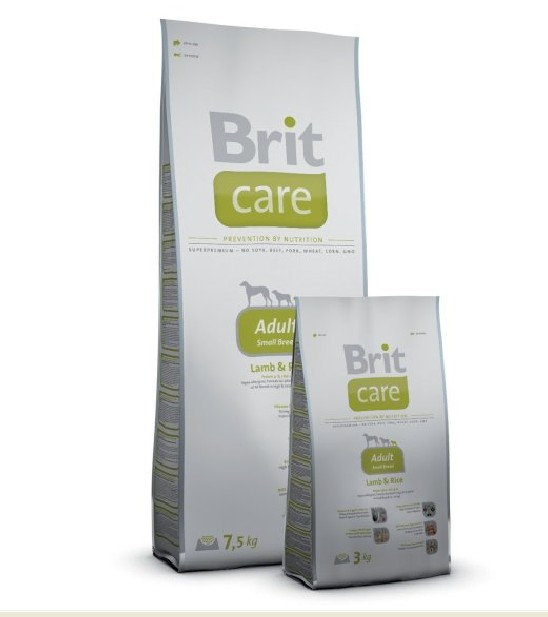 Brit Care Dog Adult Small Breed Lamb & Rice 2 balení 7,5kg