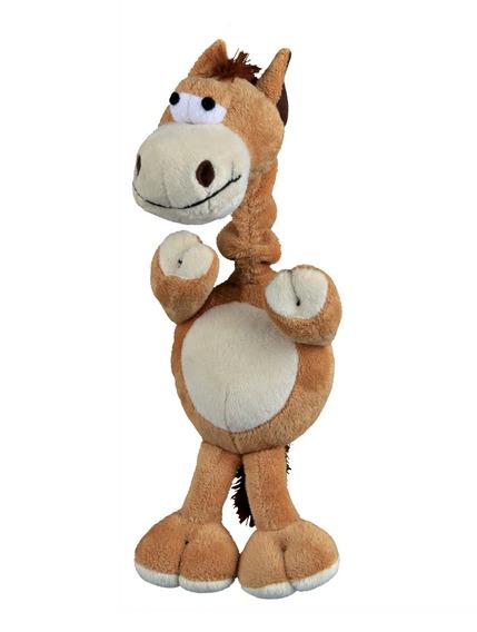 Plyšový kůň s natahovacím krkem, se zvukem 30 cm