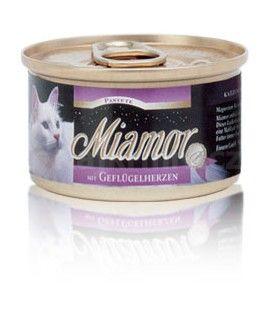 Miamor Cat paštika drůbeží srdíčka 85g