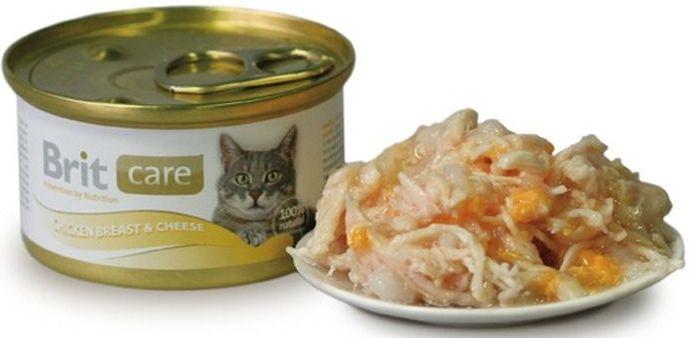 Brit Care Cat Konz. kuřecí prsa & sýr 80g