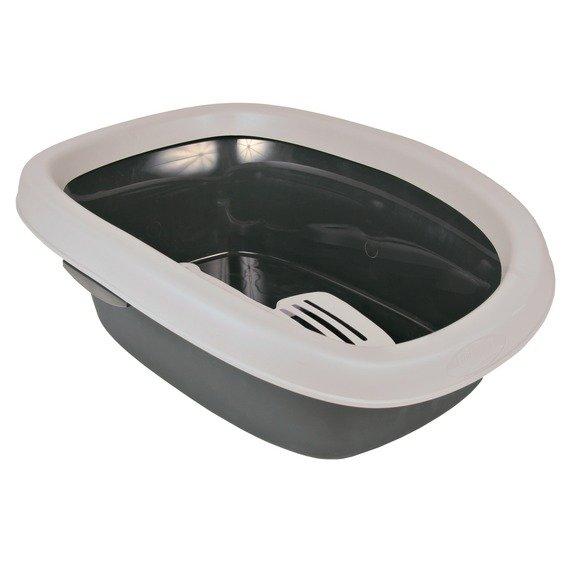 WC pro kočky CARLO 1 31x14x43cm sv. šedá / tm. šedá