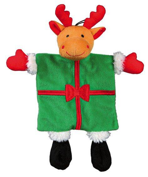 Vánoční plyšový Santa/Sob stromeček/dáreček se zvukem 30 cm