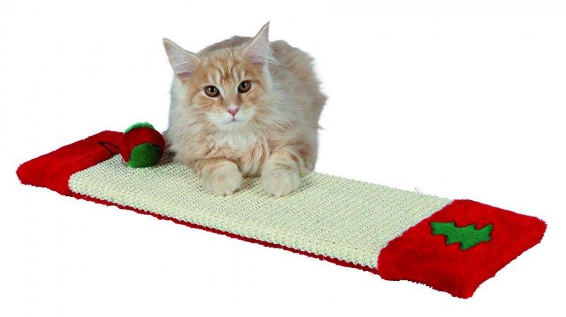Vánoční škrábadlo pro kočku 15 x 62 cm